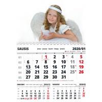 Kalendorius 21x30 cm (A4), 1 nuotrauka + 12 mėn.