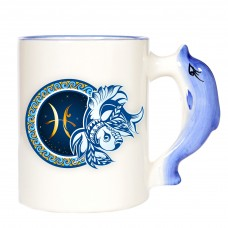 Puodelis su delfino rankenėle